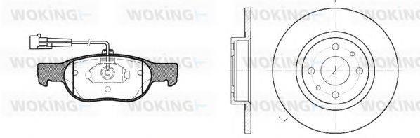 WOKING (НОМЕР: 84883.00) Комплект тормозов, дисковый тормозной механизм