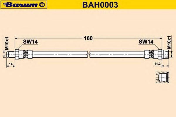 Тормозной шланг BARUM BAH0003