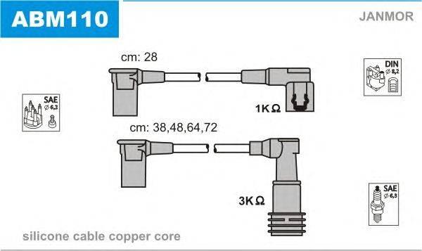 Комплект проводов зажигания JANMOR ABM110