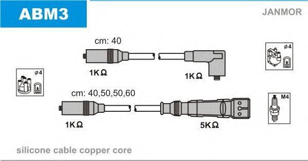 Комплект проводов зажигания JANMOR ABM3