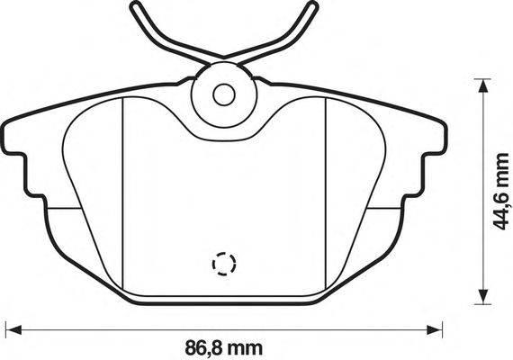 Комплект тормозных колодок, дисковый тормоз STOP 571979S