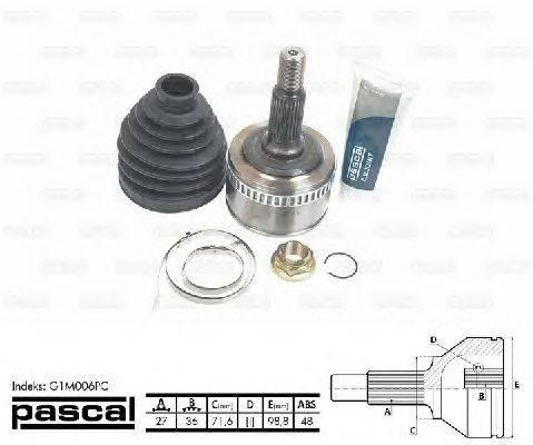 PASCAL (НОМЕР: G1M006PC) Шарнирный комплект, приводной вал