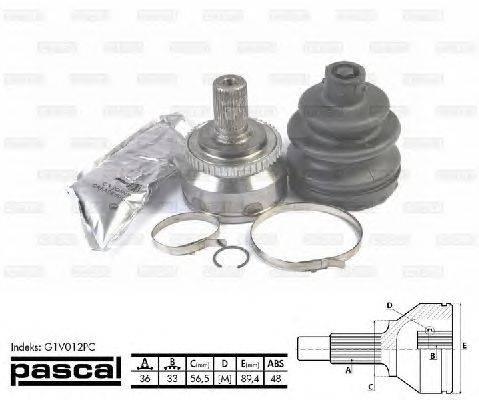 PASCAL (НОМЕР: G1V012PC) Шарнирный комплект, приводной вал