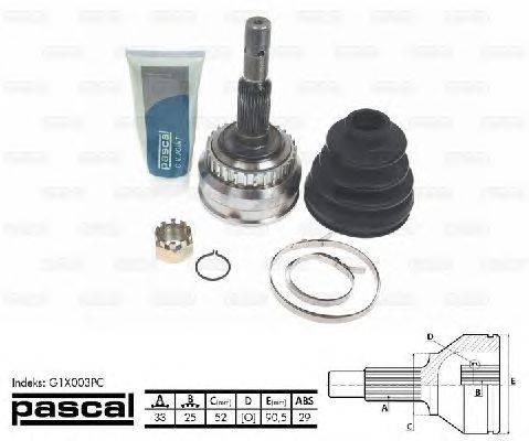 PASCAL (НОМЕР: G1X003PC) Шарнирный комплект, приводной вал