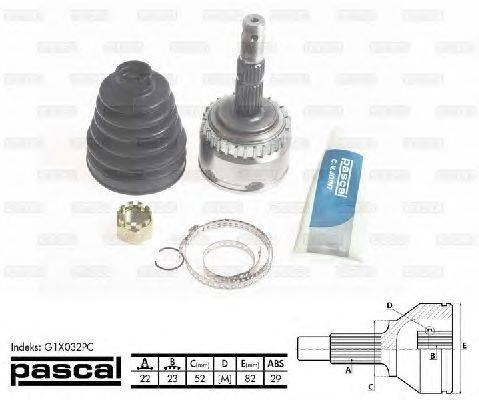 PASCAL (НОМЕР: G1X032PC) Шарнирный комплект, приводной вал