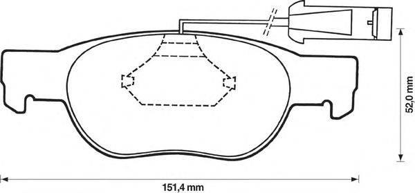 BENDIX (НОМЕР: 571882B) Комплект тормозных колодок, дисковый тормоз