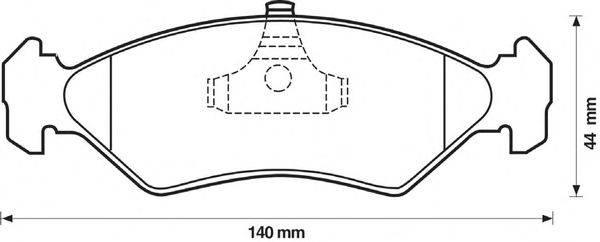 Комплект тормозных колодок, дисковый тормоз BENDIX 571913B