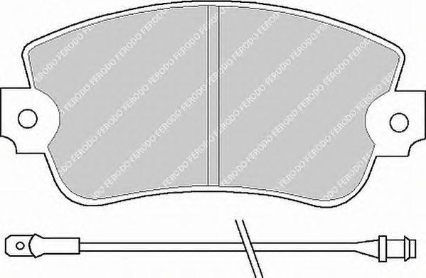 FERODO (НОМЕР: FDB101) Комплект тормозных колодок, дисковый тормоз