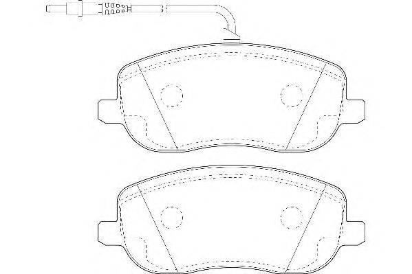 Комплект тормозных колодок, дисковый тормоз WAGNER WBP20261A