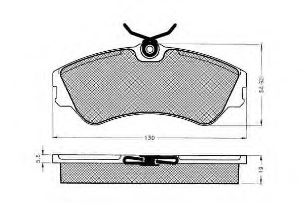Комплект тормозных колодок, дисковый тормоз PEX 7.163