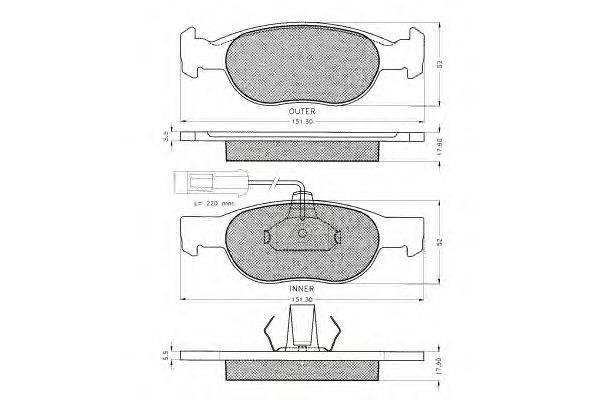 PEX (НОМЕР: 7.432) Комплект тормозных колодок, дисковый тормоз