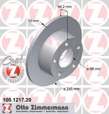 Тормозной диск ZIMMERMANN 100.1217.20