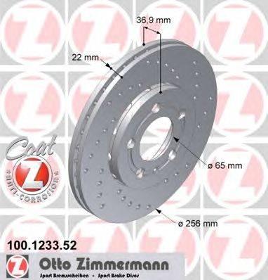 Тормозной диск ZIMMERMANN 100.1233.52
