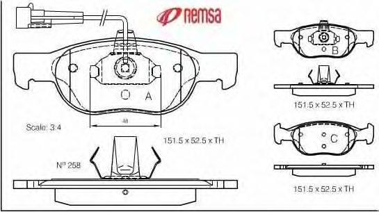 METZGER (НОМЕР: 0588.11) Комплект тормозных колодок, дисковый тормоз