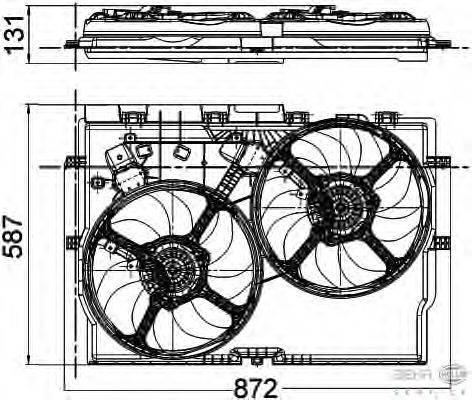 Вентилятор, охлаждение двигателя BEHR HELLA SERVICE 8EW 351 041-431