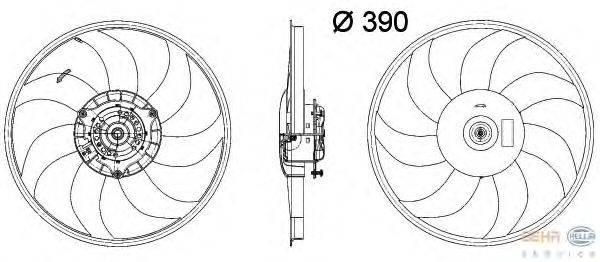 Вентилятор, охлаждение двигателя BEHR HELLA SERVICE 8EW 351 041-631