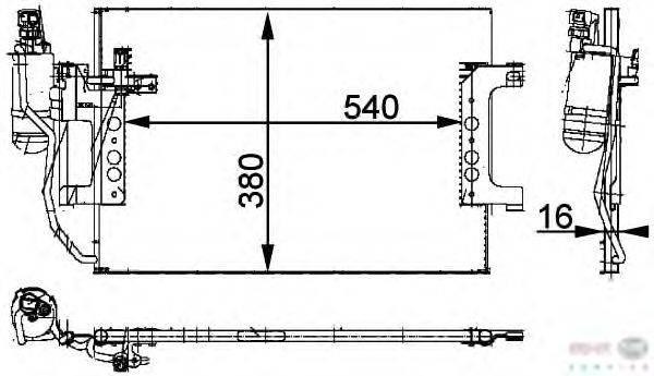 Конденсатор, кондиционер BEHR HELLA SERVICE 8FC 351 301-394