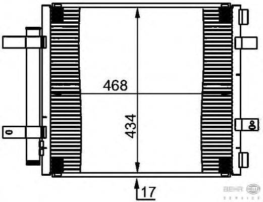 Конденсатор, кондиционер BEHR HELLA SERVICE 8FC 351 301-591