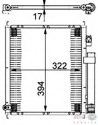 Конденсатор, кондиционер BEHR HELLA SERVICE 8FC 351 302-221