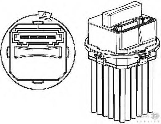 BEHR HELLA SERVICE (НОМЕР: 5HL 351 321-321) Регулятор, вентилятор салона