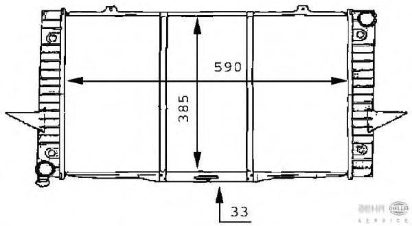 Радиатор, охлаждение двигателя BEHR HELLA SERVICE 8MK 376 706-751