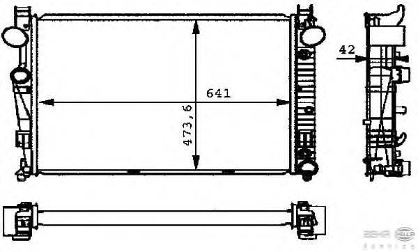 Радиатор, охлаждение двигателя BEHR HELLA SERVICE 8MK 376 710-291