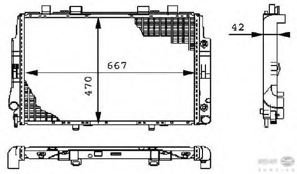 Радиатор, охлаждение двигателя BEHR HELLA SERVICE 8MK 376 711-171