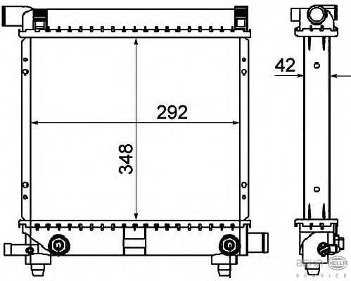 Радиатор, охлаждение двигателя BEHR HELLA SERVICE 8MK 376 711-311