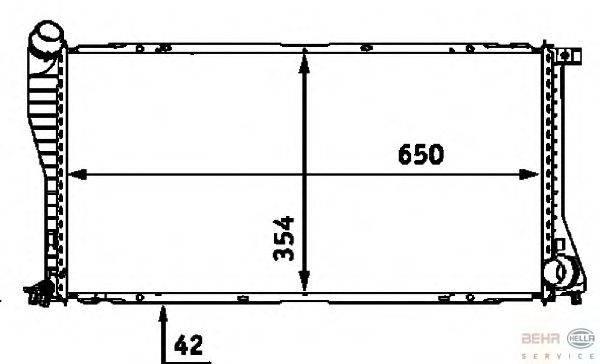 Радиатор, охлаждение двигателя BEHR HELLA SERVICE 8MK 376 712-391