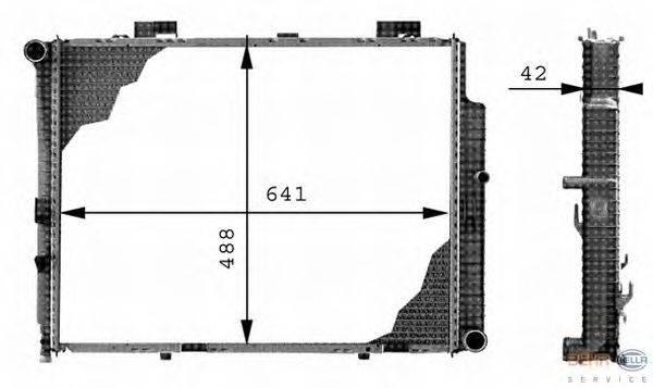 Радиатор, охлаждение двигателя BEHR HELLA SERVICE 8MK 376 712-641