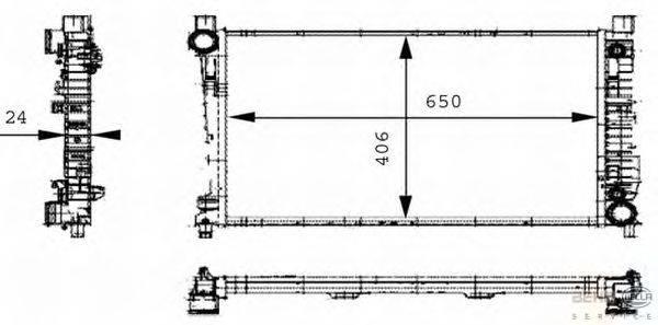 Радиатор, охлаждение двигателя BEHR HELLA SERVICE 8MK 376 714-331