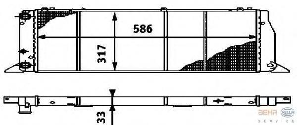 Радиатор, охлаждение двигателя BEHR HELLA SERVICE 8MK 376 714-571