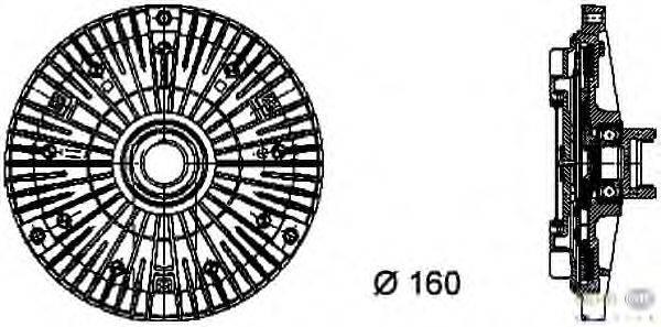Сцепление, вентилятор радиатора BEHR HELLA SERVICE 8MV 376 732-101