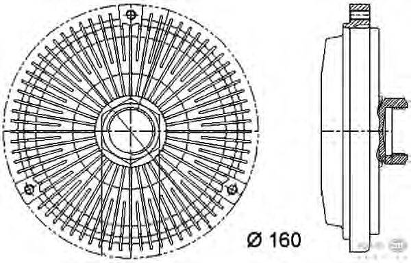 Сцепление, вентилятор радиатора BEHR HELLA SERVICE 8MV 376 733-011