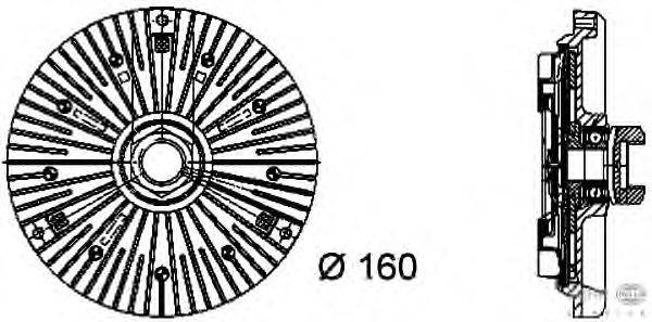 Сцепление, вентилятор радиатора BEHR HELLA SERVICE 8MV 376 733-031