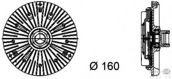 Сцепление, вентилятор радиатора BEHR HELLA SERVICE 8MV 376 734-441
