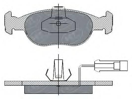 SCT Germany (НОМЕР: SP 291) Комплект тормозных колодок, дисковый тормоз