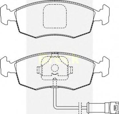 Комплект тормозных колодок, дисковый тормоз BRECK 20907 00 702 10