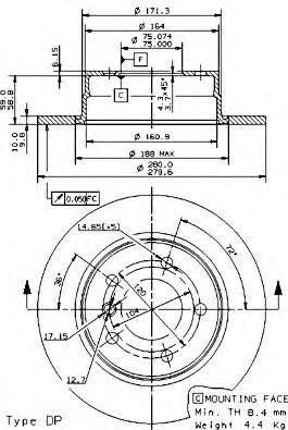 Тормозной диск AP 14870