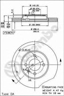 Тормозной диск BRECO BS 7967