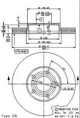 Тормозной диск BRECO BS 8294