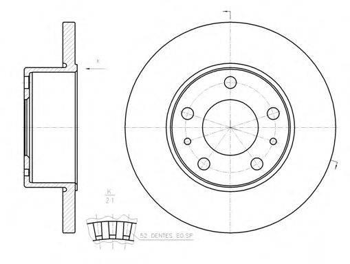 Тормозной диск WOKING D61202.00