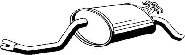 Глушитель выхлопных газов конечный ASMET 01.009