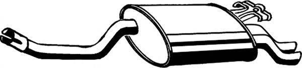 Глушитель выхлопных газов конечный ASMET 01.015