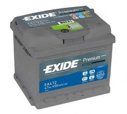 Стартерная аккумуляторная батарея; Стартерная аккумуляторная батарея EXIDE EA472