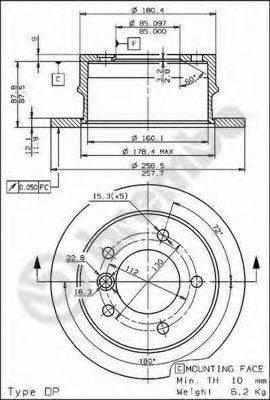 BREMBO (НОМЕР: 08.7724.20) Тормозной диск