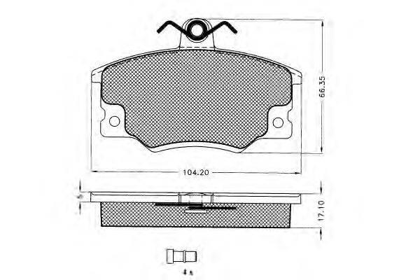 Комплект тормозных колодок, дисковый тормоз PEX 7.069