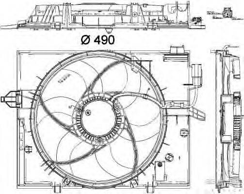 Вентилятор, охлаждение двигателя BEHR HELLA SERVICE 8EW 351 040-431