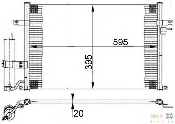 Конденсатор, кондиционер BEHR HELLA SERVICE 8FC 351 302-191