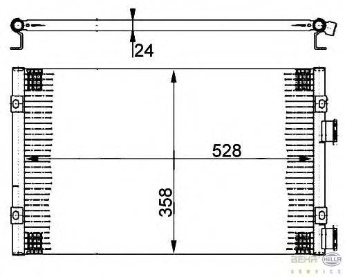 Конденсатор, кондиционер BEHR HELLA SERVICE 8FC 351 302-241